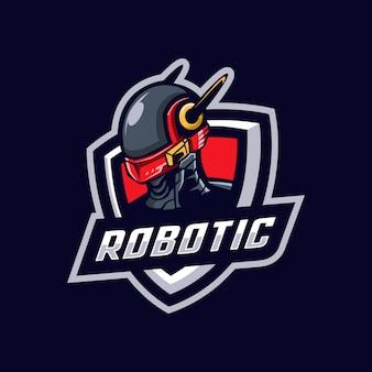 Logotipo da mascote robótica