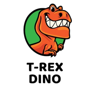 Logotipo da mascote t-rex dino