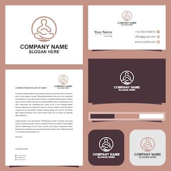 Logotipo da meditação e cartão de visita