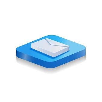 Logotipo da mensagem do ícone 3d