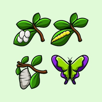 Logotipo da metamorfose da borboleta