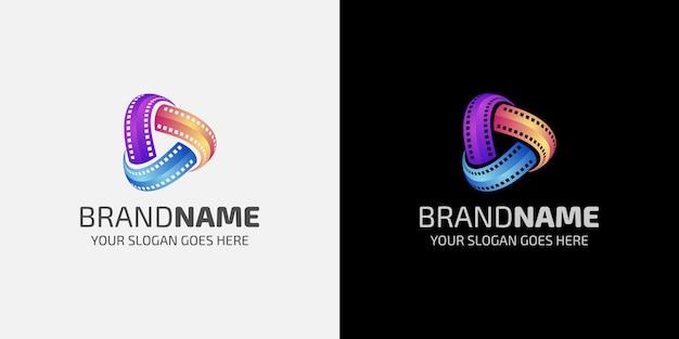 Logotipo da mídia colorido