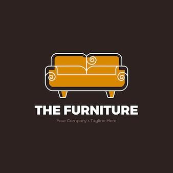 Logotipo da mobília com sofá