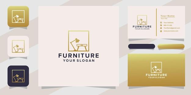 Logotipo da mobília e cartão de visita