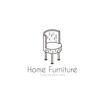Logotipo da mobília. modelo de logotipo