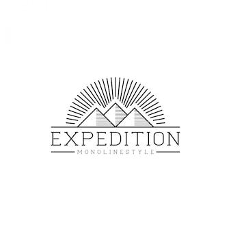 Logotipo da montanha ao ar livre