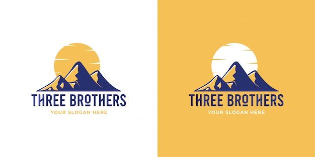 Logotipo da montanha de três irmãos