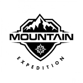 Logotipo da montanha e logotipo da aventura