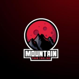Logotipo da montanha panorama verão inverno