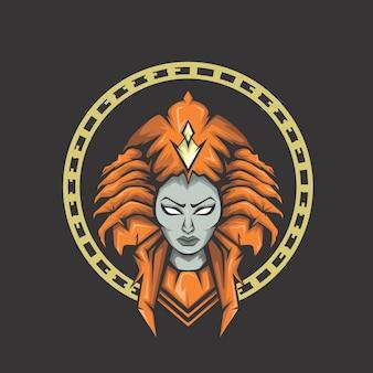 Logotipo da morte da senhora