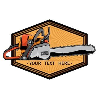 Logotipo da motosserra