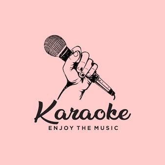 Logotipo da música de karoke