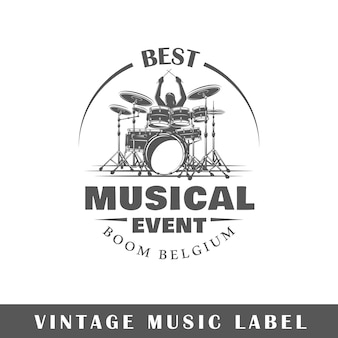 Logotipo da música isolado no branco