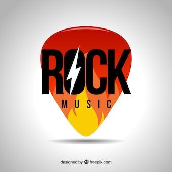 Logotipo da música rock
