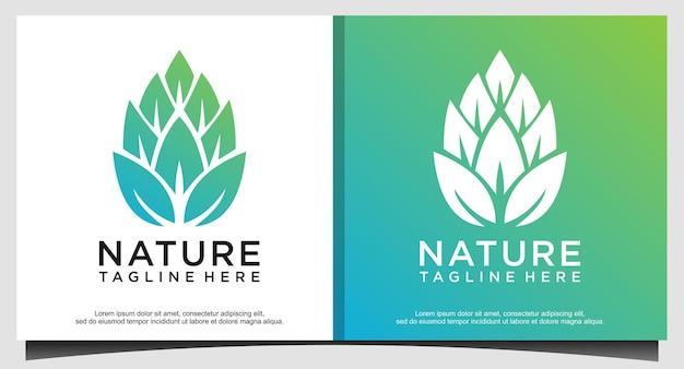 Logotipo da natureza da folha abstrata