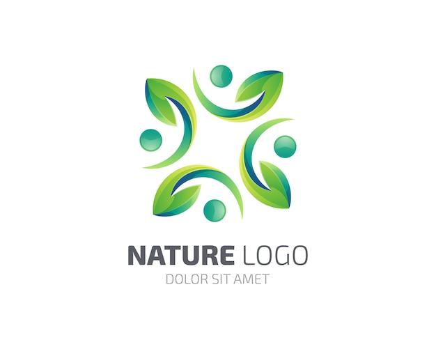 Logotipo da natureza da folha