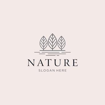 Logotipo da natureza de três árvores