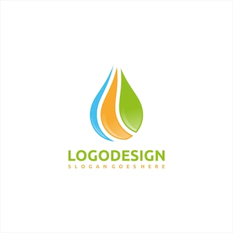 Logotipo da natureza e da água