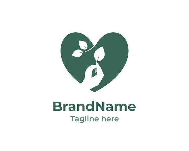Logotipo da natureza eco coração