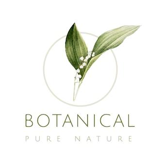 Logotipo da natureza pura botânica