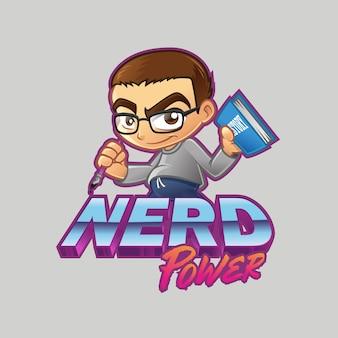 Logotipo da nerd power