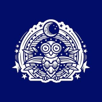 Logotipo da noite da coruja