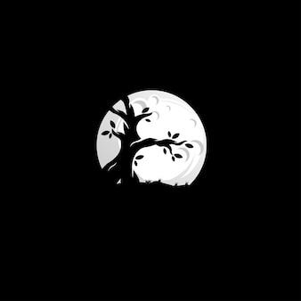 Logotipo da noite de árvore