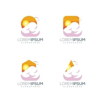 Logotipo da nuvem do pôr do sol