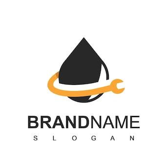 Logotipo da oil company, símbolo de manutenção de óleo