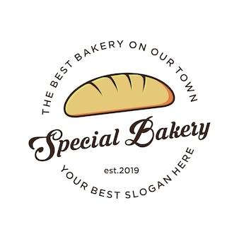 Logotipo da padaria com logotipo vintage,