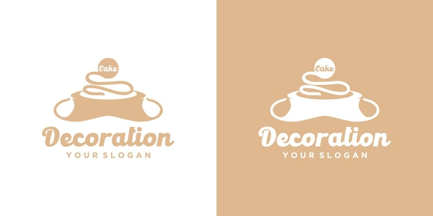 Logotipo da padaria, logotipo do bolo, referência para negócios