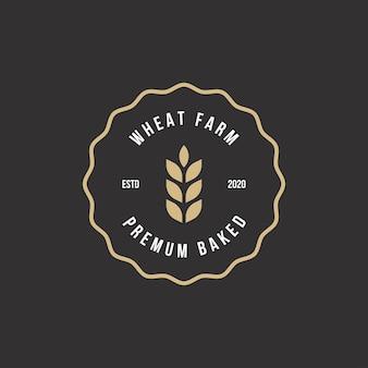 Logotipo da padaria retro vintage emblemas e etiquetas estoque vetor