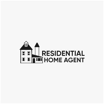 Logotipo da paisagem do agente residencial residencial deign