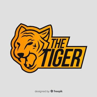 Logotipo da palavra e tigre