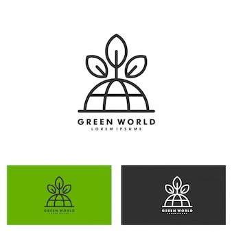 Logotipo da palavra verde