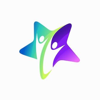 Logotipo da parceria com conceito estrela