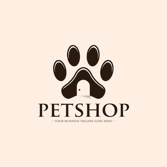 Logotipo da pata de pet shop