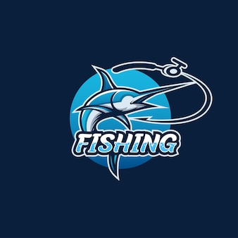 Logotipo da pesca, anzol