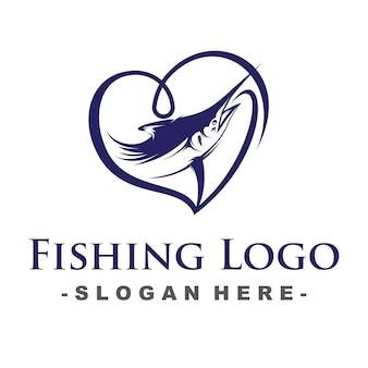 Logotipo da pesca do amor