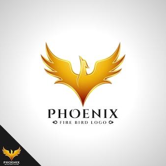 Logotipo da phoenix com conceito do logotipo da brave bird