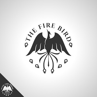 Logotipo da phoenix com conceito flying upward