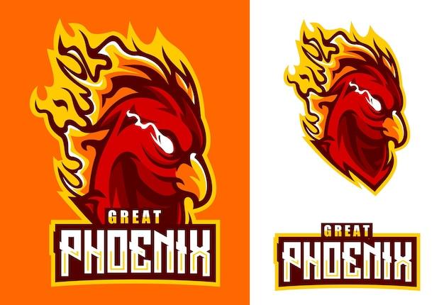 Logotipo da phoenix mascot esport