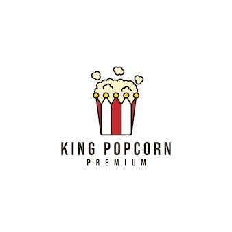 Logotipo da pipoca do rei