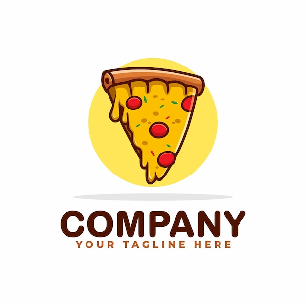 Logotipo da pizza com queijo derretido