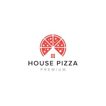 Logotipo da pizza da casa