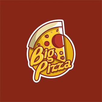 Logotipo da pizza grande