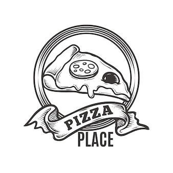 Logotipo da pizza vintage