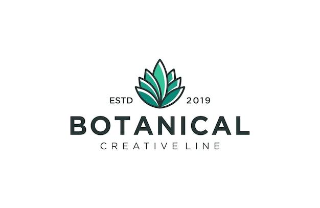 Logotipo da planta botânica
