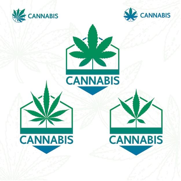 Logotipo da planta de cannabis