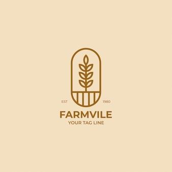 Logotipo da planta natureza vintage